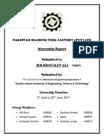 Pakistan Machine Tool Factory Internship Report