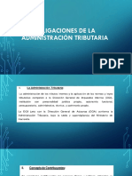 Obligaciones de La Administración Tributaria Calderon