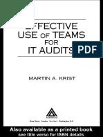 Effectivve Use of Teams for It Audit Martin Krist