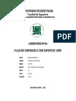 LAB 04 - Flujo No Confinado o Con Superficie Libre