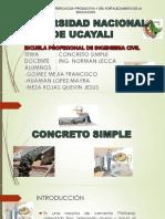Concreto Simple (Concepto y Introduccion)