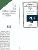 THOMPSON, E.P. a Formação Da Classe Operária Inglesa, Vol. 2