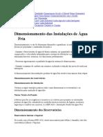 Dimensionamento de Agua Fria.doc