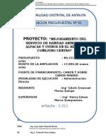 Ampliacion Presupuestal Antauta Coñejuno