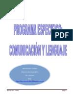 Programa Específico Comunicación y Lenguaje 2