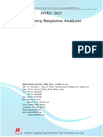 Transformer Sweep Frequency Response Analyzer HYRZ-902 Technical Manual