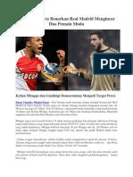 Florentino Perez Benarkan Real Madrid Mengincar Dua Pemain Muda