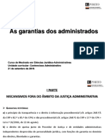 As Garantias Dos Administrados