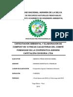 Capacitación Ambiental y Elaboración de Compost en 10 Fincas Cacaoteras Del Comité Pumahuasi de La Cooperativa Agraria Cafetalera Divisoria Ltda