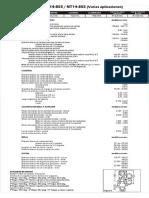 Cummins n 14- 855 Datos Tecnicos