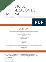 Proyecto de Formalización de Empresa