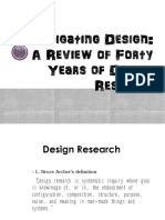 Investigating Design a Review of Forty Years of Design Research