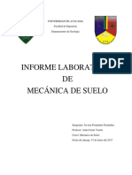 Informe Laboratorio de Mecanica de Suelo