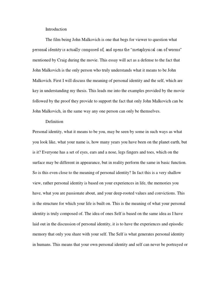being john malkovich essay