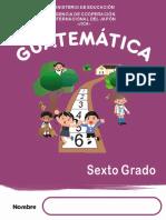 GUÍA DE  MATEMÁTICAS PARA LOS ALUMNOS DE SEXTO GRADO