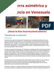 La guerra asimétrica y  la violencia en Venezuela