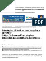 Estrategias didácticas para enseñar a aprender - Educrea.pdf