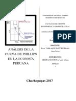 Análisis de La Curva de Phillips en La Economía Peruana