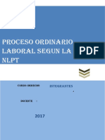 Proceso Ordinario Segun La NLPT - Avance