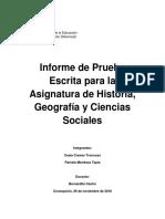 Informe de Prueba Escrita PROCESO