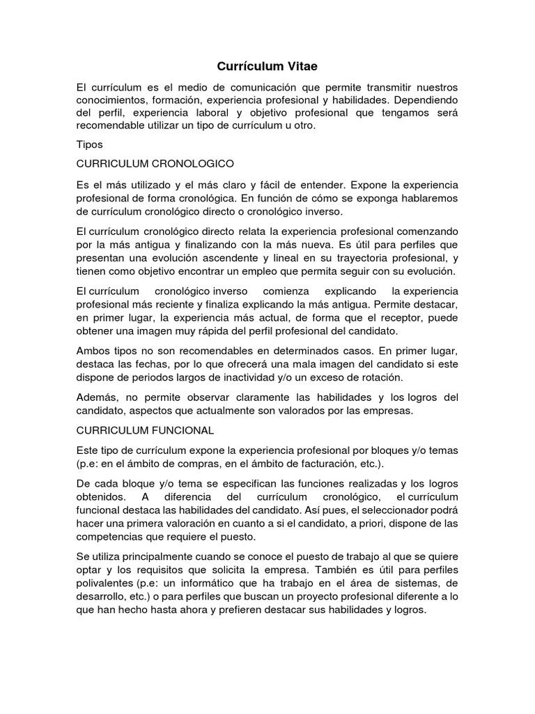 Excelente Poca Experiencia Plantilla De Curriculum Vitae Motivo ...