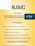 "Paul Griffiths_ ""Music"" From Part II of Cambridge Guide to the Arts in Britain, Volume 9"