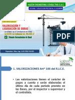Valorizacion y Liquidacion de Obras OSCAR