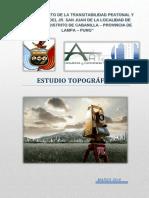Estudio Topografico Jr. San Juan de La Localidad de Cabanilla,
