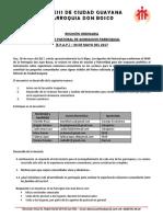 REUNIÓN ORDINARIA  EQUIPO PASTORAL DE ANIMACION PARROQUIAL (E.P.A.P.) – 30 DE MAYO DEL 2017