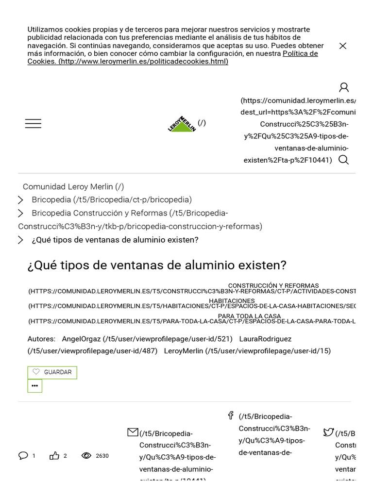 Qu Tipos De Ventanas De Aluminio Existen_ Comunidad Leroy Merlin ~ Contraventanas Aluminio Leroy Merlin
