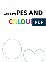 Shapes and Colours - 6º Ano