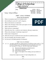 Me6404 - Model Exam