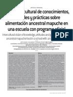 Vision intercultural de conocimientos, actitudes y prácticas sobre alimentación ancestral mapuche en una escuela con programa oficial