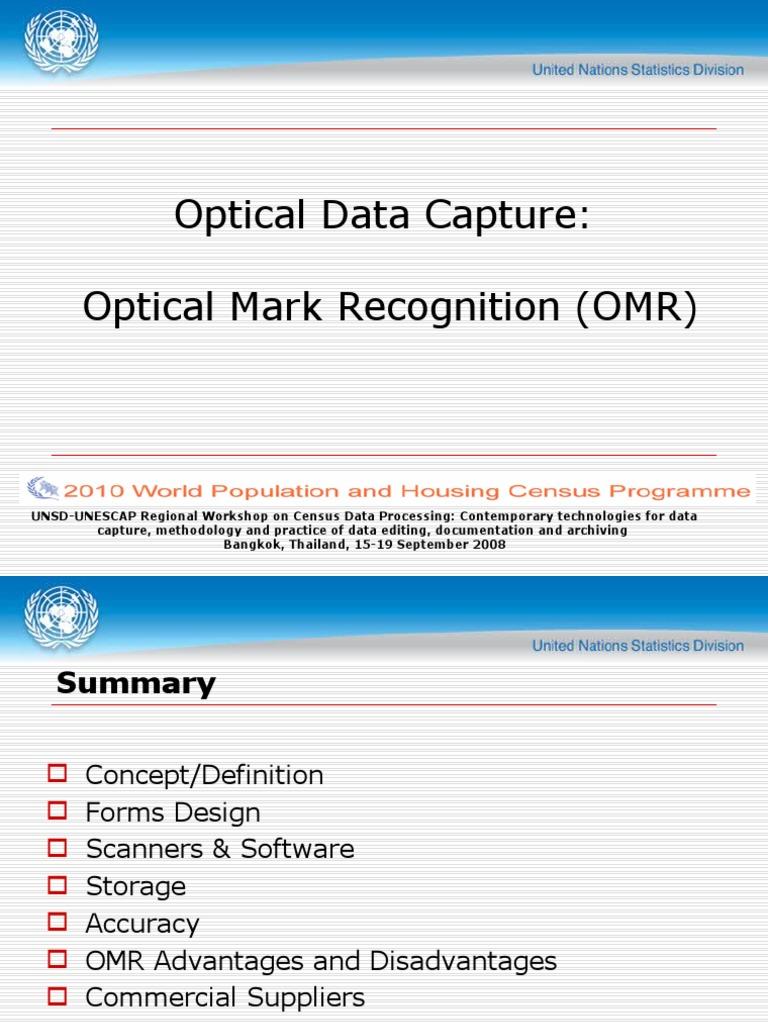 OMR | Application Software | Information Science