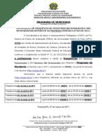 Datas Frequencia 2017.1