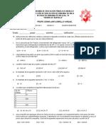 Examen 4to Bimestre Matematicas 1