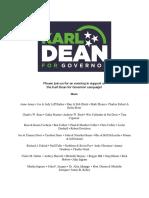 Karl Dean fundraiser invitation