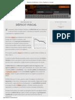 Definición de Déficit Fiscal - Qué Es, Significado y Concepto