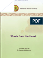 Words From the Heartby Dr Nandamalabhivamsa