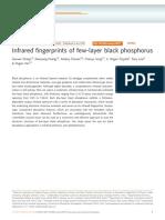Infrared Fingerprints of Few-layer Black Phosphorus