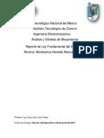 Reporte LeyFundamentaldelEngranaje PracticadeEngranes Montesinos Manuel