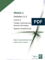 Lectura 3 - Doctrinas que tratan el derecho del trabajo - Aspecto Constitucional.pdf