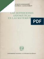 Jacques Hadamard - Las Definiciones