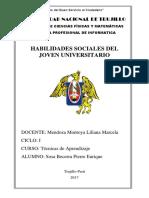 Habilidades Sociales Del Joven Universitario