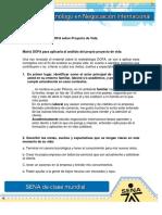 1 Act.matriz DOFA Sobre Proyecto de Vida .