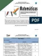 Temario Matematicas Tercer Ciclo