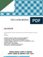Lírica Latina Medieval