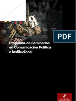 Seminarios en Comunicacion Politica e Institucional (Proyecto Instituto Universitario Ortega y Gasset )