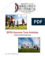 summer time activities bfpa