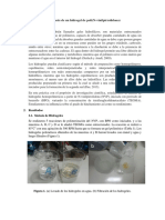 Síntesis de un hidrogel de poli(N-vinilpirrolidona)